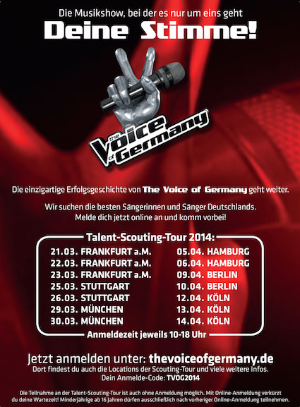 The Voice of Germany - Bewerben