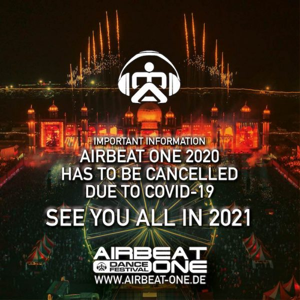 AIRBEAT ONE Festival 2020 abgesagt
